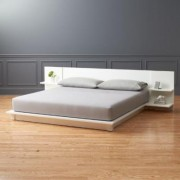 Andes White King Bed by CB2