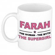 Bellatio Decorations Farah The woman, The myth the supergirl cadeau koffie mok / thee beker 300 ml