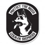 German Shepherd Klisterdekal