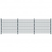 vidaXL Anthracite Grey 6 m Fence Panel with Posts 1.6 m High