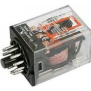 Dugaszolható interfész relé 11 lábas 3 érintkező 24V DC tekercs