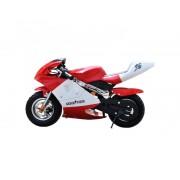 "Skate flash Mini moto electrica skateflash poket roja rueda 13"" bateria 12a motor 300w"