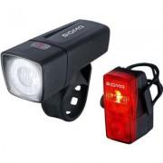 Sigma Zestaw lampek rowerowych Aura 25 + Cubic