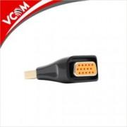Преходник VCom, от DisplayPort(м) към VGA(ж), черен