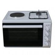 Готварска печка Arielli C 11 G, клас А, 2 нагревателни зони (1 електрически, 1 газов котлон), 38л. обем на фурната, 3 функции, бяла