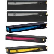 Italy's Cartridge 5 CARTUCCE HP 980XL COMPATIBILI PER HP OfficeJet Enterprise Color X555dn X555XH X585F X585Z N 2 980XL BK + N 1 980XL C/M/Y