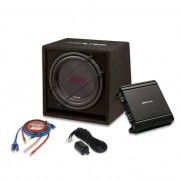 Alpine Kit Subwoofer + Amplificador + Cajón Alpine Sbg-30kit