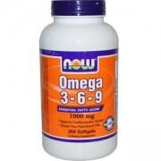 Омега 3-6-9 1000 мг. - Omega 3-6-9 - 250 дражета - NOW FOODS, NF1837
