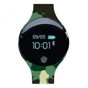 KQHSM Recargable Inteligente Reloj de Estudiantes Masculinos y Femeninos Deportes Disco Running Pulsera Impermeable podómetro Multifuncional Bluetooth (Color : A)