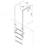 Zarges Ausstiegsholm abgewinkelt Stahl verzinkt 60x25mm