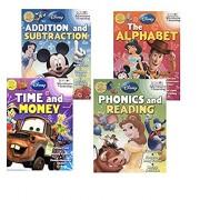 Activity Workbook Set of 4 - Disney & Pixar, Preschool Pre-k Kindergarten 1st Grade Workbooks. Learn