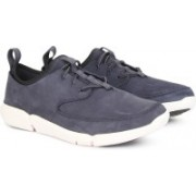 Clarks TRIFLOW FORM BLUE NUBUCK Sneakers For Men(Blue)