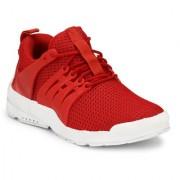 Shoe Rider Men's Red Mesh Sport Shoes