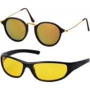Freny Exim Sports, Round Sunglasses(Golden, Yellow)