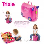 Trunki - Детски куфар 3 в 1 Ride-on DELUXE Pink