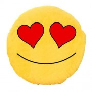 Soft Smiley Emoticon Yellow Round Cushion Pillow Stuffed Plush Toy Doll (Indecent Love)