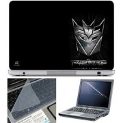 Finearts Laptop Skin - Transformers Logo Black With Screen Guard And Key Protector - Size 15.6 Inch