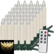 Vánoční osvětlení Sada 30 svíček LED s dálkovým ovládáním