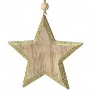 Decoratiune Craciun din lemn Star-2