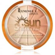 Rimmel Sun Shimmer 3 in 1 Shimmering Bonzer pudra bronzanta stralucitoare culoare 001 Gold Princess 9,9 g