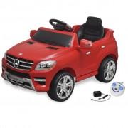 vidaXL Елекрическа кола Mercedes ML350 червена 6V с дистанционно