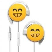 Start Auricolare A Filo Stereo Smile-06 Headphones Jack 3,5mm Universale Per Musica Yellow Per Modelli A Marchio Panasonic