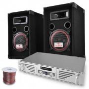Electronic-Star Set DJ PA Funky Breakbeats con amplificador y altavoces (Pl-2464-2679)