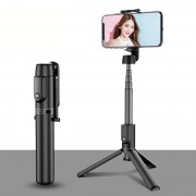 MAGIC SHADOW M12 Integrated Extension Multi-functional Selfie Stick Tripod Bluetooth Remote Control - Black