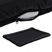 [en.casa]® Cama para mascotas - cama para perros - con cremallera - tejido Oxford / algodón PP - 120 x 85 cm [XXL] - Negro