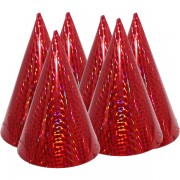 Kicsi kalap, hologramos, piros 6 db/cs