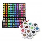 120 Colores De Sombra De Ojos Paleta Con 12 Polvos Minerales Pigmento Sombras De Ojos