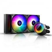 Охлаждаща система DeepCool CASTLE 240RGB V2, Addressable RGB LED, Black, DP-GS-H12AR-CSL240V2
