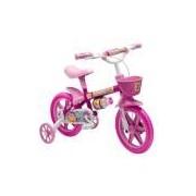 Bicicleta Infantil Flower Feminina Aro 12'' Com Cestinha Rosa Nathor
