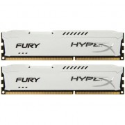 Memorie HyperX FURY White 8GB, DDR3, 1600MHz, CL10, 1.5V, kit 2x4GB