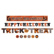 amscan New Age Scare Halloween Party Assorted Sizes Banner Kit (4 Piece), Multicolor, One Size