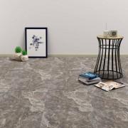 vidaXL Самозалепващи подови дъски от PVC, 5,11 м², черен мрамор