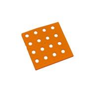 Oranžový plastový roh AT-HRD, AvaTile - délka 13,7 cm, šířka 13,7 cm a výška 1,6 cm