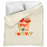 Trapuntino Leggero Con Stampa Digitale I Love You Per Letto Matrimoniale L353