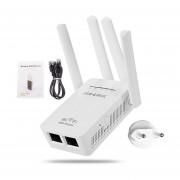 4 Antenas Wireless WIFI 300Mbps Router Repetidor Amplificador De Señal Range Extender