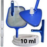 PISCINE CENTER O'CLAIR Kit nettoyage piscine avec manche et tuyau 10 ml