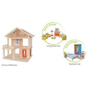 Plan Toys Terrace Dollhouse Value Pack