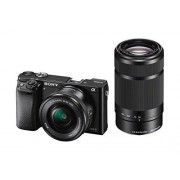 Sony Alpha 6000 Systeemcamera (24 megapixels, 7,6 cm (3 inch) LCD-display, Exmor APS-C sensor, Full-HD, High Speed Hybrid AF)
