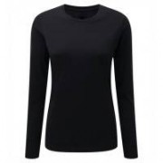 Ladies Long Sleeve HD T-shirt Black