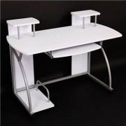 Ofisillas Mesa de ordenador OHIO PRO, bandeja teclado, blanca, 115x55
