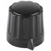 Buton Mentor cu falca de prindere, seria 11,5, negru, diametrul axei 4 mm
