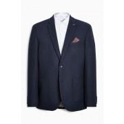 Next Hopsack Slim Fit Jacket - Navy - Mens