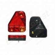 Lampa auto pentru remorca partea Dreapta cu mers inapoi si triunghi reflectorizant , 174x206.5x54.5mm