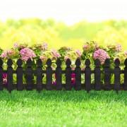 Virágágyás szegély / kerítés – fekete 56 x 20 cm
