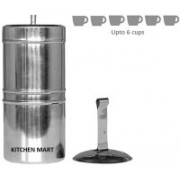 Kitchen Mart South Indian Style 6 Cups Indian Coffee Filter(650 ml)