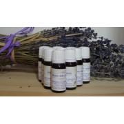 10 flaconi marrone da 10 ml con olio essenziale lavanda lavandino puro 100% raccolto 2019 etichetta museo della lavanda